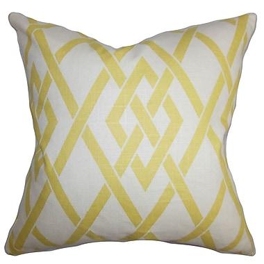 The Pillow Collection Abioye Geometric Throw Pillow; 24'' x 24''