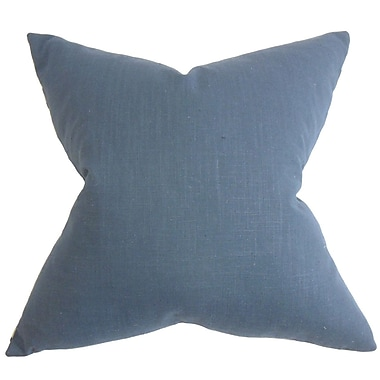The Pillow Collection Ninian Solid Cotton Throw Pillow; 22'' x 22''