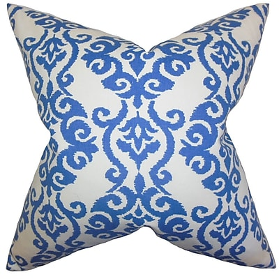 The Pillow Collection Rafe Damask Cotton Throw Pillow; 22'' x 22''