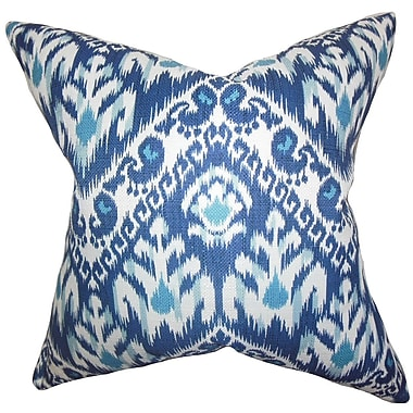 The Pillow Collection Rafiq Ikat Throw Pillow; 24'' x 24''
