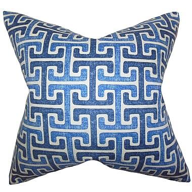 The Pillow Collection Unai Geometric Cotton Throw Pillow; 22'' x 22''