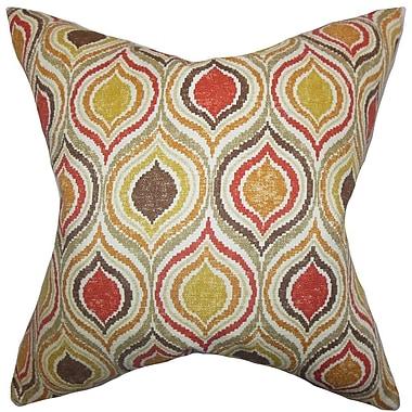 The Pillow Collection Xylon Geometric Cotton Throw Pillow; 22'' x 22''