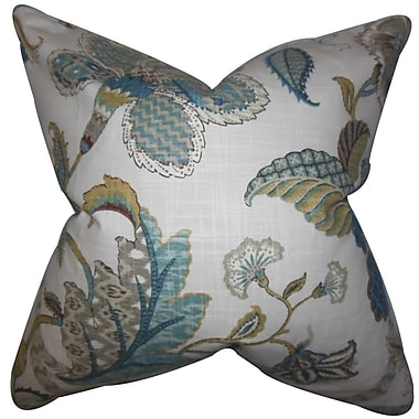 The Pillow Collection Gracen Floral Cotton Throw Pillow; 22'' x 22''
