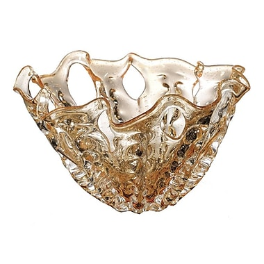 OK Lighting Ambre Glass Bowl