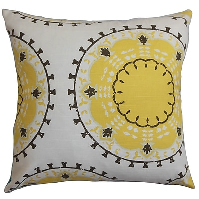 The Pillow Collection Edolie Cotton Throw Pillow; 24'' x 24''
