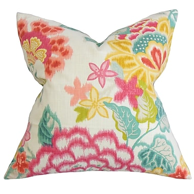 The Pillow Collection Lindsay Floral Cotton Throw Pillow; 24'' x 24''