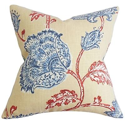 The Pillow Collection Parthenia Floral Throw Pillow; 24'' x 24''