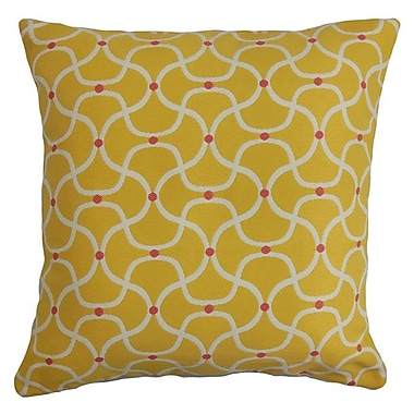 The Pillow Collection Radha Geometric Outdoor Throw Pillow; 22'' x 22''