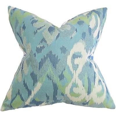 The Pillow Collection Farrar Ikat Throw Pillow; 24'' x 24''