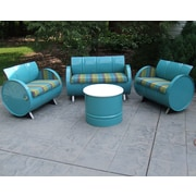 Astoria Lagoon Indoor/Outdoor Garden Patio 4 Piece Seating Group w/ Sunbrella Cushion