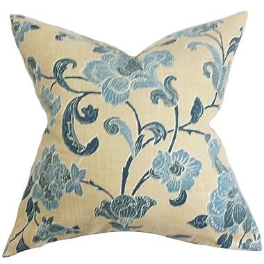 The Pillow Collection Duscha Floral Throw Pillow; 24'' x 24''