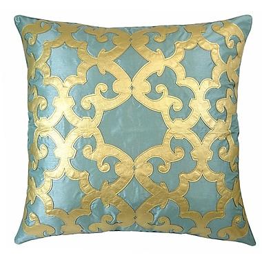 R&MIndustries Poleis Ferronnerie Boulevard Throw Pillow; Mineral/Gold