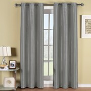 ELEGANT COMFORT Triple Layer Blackout Curtain Panels (Set of 2); Silver