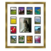 Frames By Mail 13 Opening Collage Picture Frame; Gold