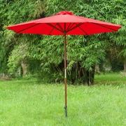 EeeTradingInternational 9' Market Umbrella; Bright Red