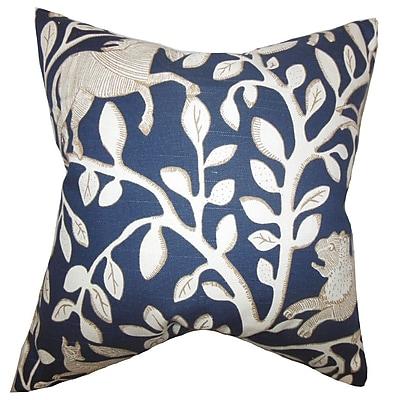 The Pillow Collection Jorja Foliage Throw Pillow; 18'' x 18''