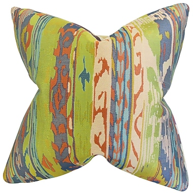 The Pillow Collection Ogun Ikat Throw Pillow; 22'' x 22''
