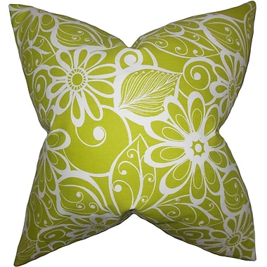 The Pillow Collection Isaline Floral Throw Pillow; 24'' x 24''