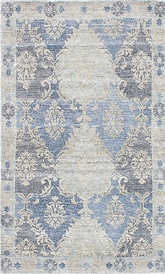 ECARPETGALLERY Monterey Hand-Knotted Blue/Beige/Gray Area Rug; 5' x 8'