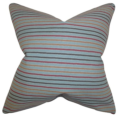 The Pillow Collection Jaylen Stripes Cotton Throw Pillow; 22'' x 22''