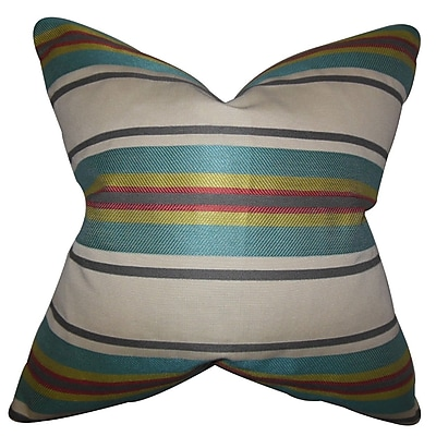 The Pillow Collection Osric Stripe Throw Pillow; 24'' x 24''