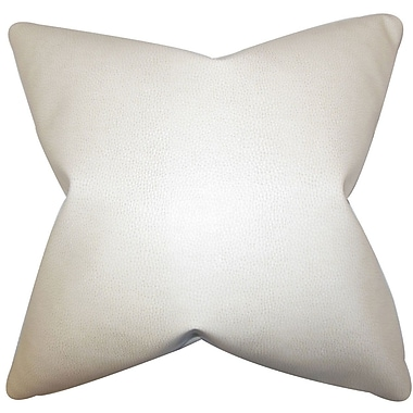 The Pillow Collection Xen Solid Throw Pillow; 22'' x 22''