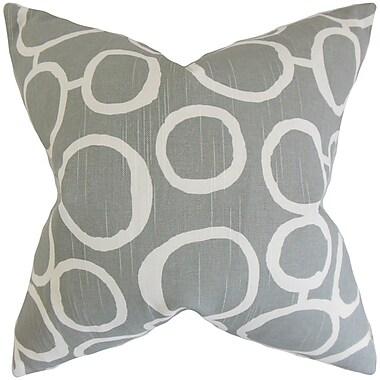 The Pillow Collection Franca Geometric Cotton Throw Pillow; 18'' x 18''