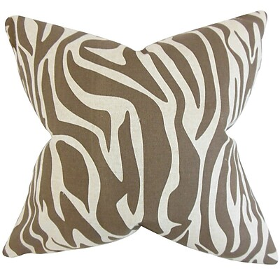 The Pillow Collection Dari Zebra Print Throw Pillow; 18'' x 18''