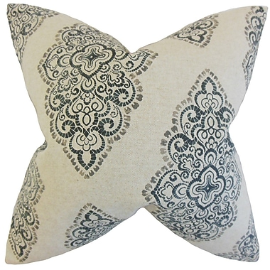 The Pillow Collection Elexis Damask Throw Pillow; 24'' x 24''