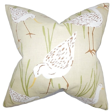 The Pillow Collection Agapi Animal Print Throw Pillow; 18'' x 18''