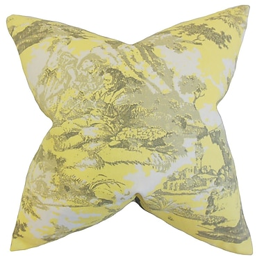 The Pillow Collection Folami Toile Cotton Throw Pillow; 22'' x 22''