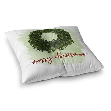 Kavka Merry Christmas Floor Pillow; 23'' H x 23'' W x 9.5'' D