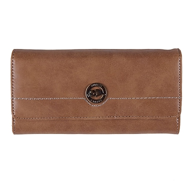 Roots RT21365-3 Camel Brown Ladies Pocket Clutch Wallet