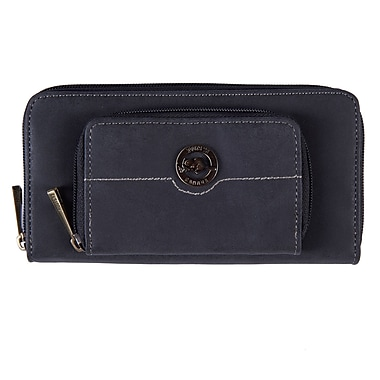 Roots RT21371-9 Black Zippered Round Clutch