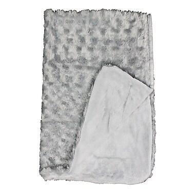 Baby Mode – Couverture en peluche, texture bouclée, gris