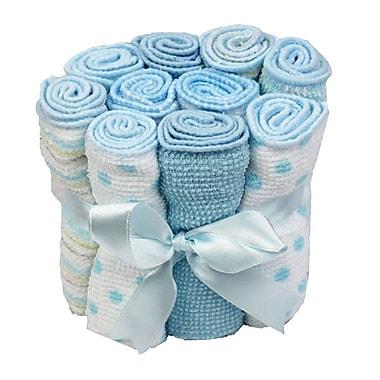 Tendertyme – Débarbouillettes, 10/paquet, bleu