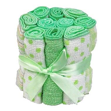Tendertyme – Débarbouillettes, 10/paquet, vert