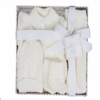 Tots Fifth Ave 4-Piece Knit Baby Gift Set