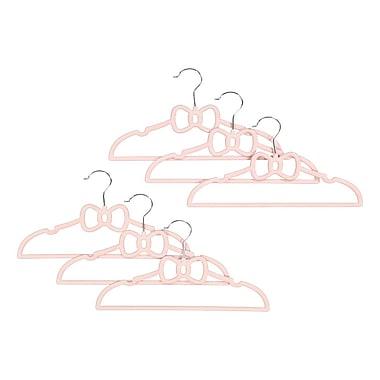 Tendertyme – Cintres avec nœud papillon, 6/paquet, rose