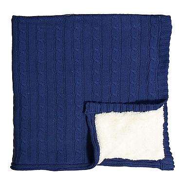 Sherpa Knit Blanket on Wood Hanger