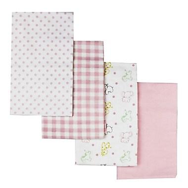 Baby Mode – Couverture pour bébé, paq./4, rose