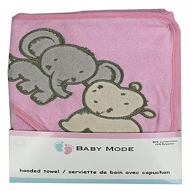 Baby Mode - Serviette à capuche, rose