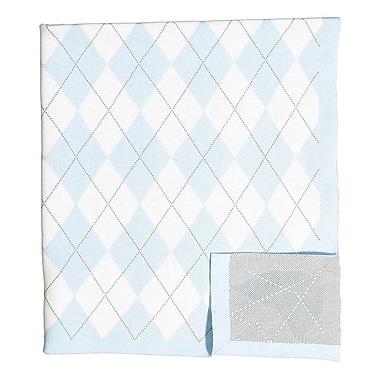 BM Signature – Couverture à motif en losange, bleu