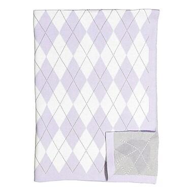 BM Signature – Couverture à motif en losange, violet