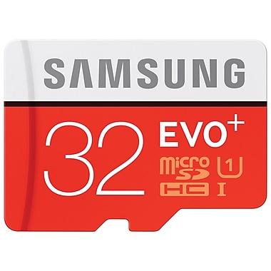 Samsung - Carte mémoire microSDXC EVO+ avec adaptateur, 32 Go