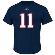 Majestic – T-shirt no 11 Julian Edelman des Patriots de la Nouvelle-Angleterre, Eligible receiver III, très grand (NEP10-2-XL)