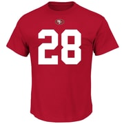 Majestic – T-shirt Eligible Receiver III du no 28 Carlos Hyde des 49ers de San Francisco, très grand (SAF10-2-XL)