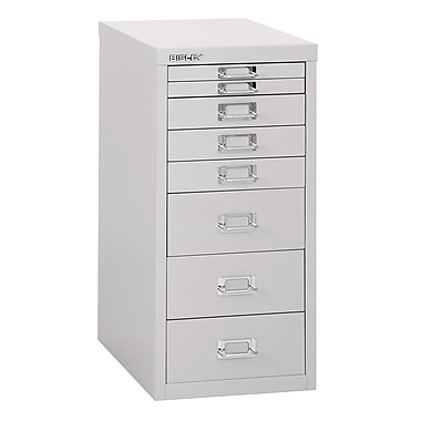 Bisley Eight Drawer Steel Multidrawer, Light Grey, Letter/A4 (MD8-LG)