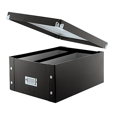 Snap-N-Store® Double Wide CD Storage Box, Black
