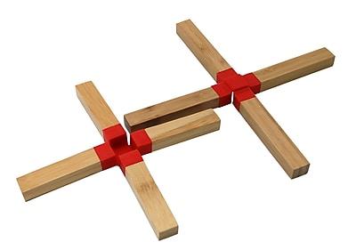 LCM Home Fashions, Inc. Bamboo Trivet (Set of 2) WYF078279528818
